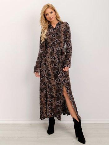 BSL Czarno-brązowa sukienka