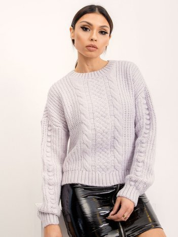 BSL Jasnofioletowy sweter