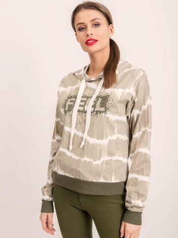 BSL Khaki bluza damska z kapturem
