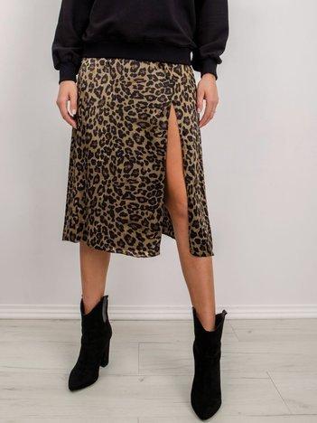 BSL Khaki spódnica w cętki