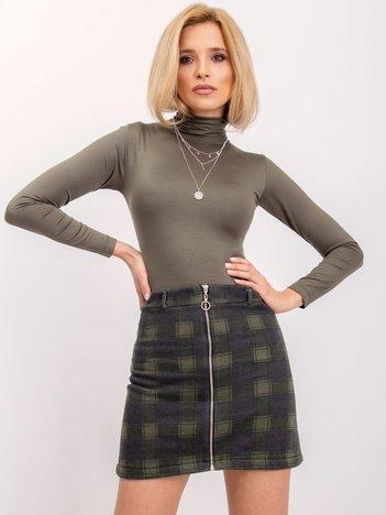 BSL Khaki spódnica w kratę