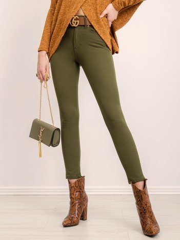 BSL Khaki spodnie jeansowe