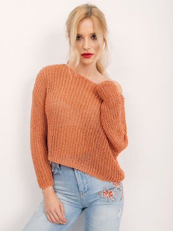 BSL Koralowy krótki sweter