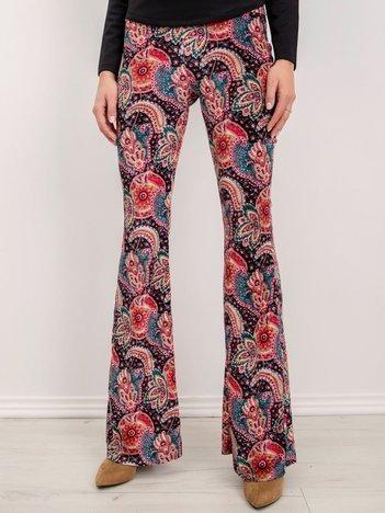 BSL Spodnie w kolorowe wzory
