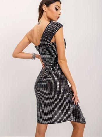 BSL Srebrna błyszcząca sukienka