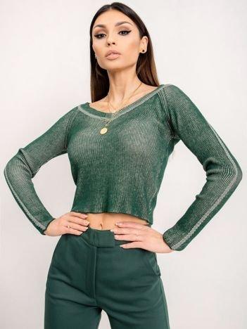 BSL Zielony sweter damski