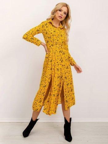 BSL Żółta sukienka damska