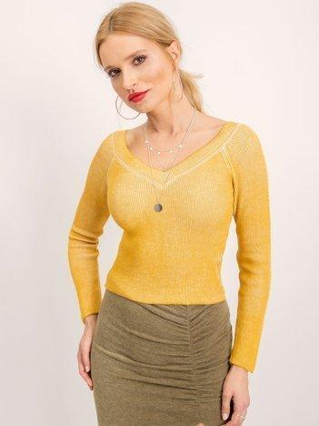 BSL Żółty sweter damski