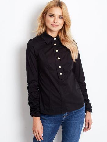 BY O LA LA Czarna damska koszula