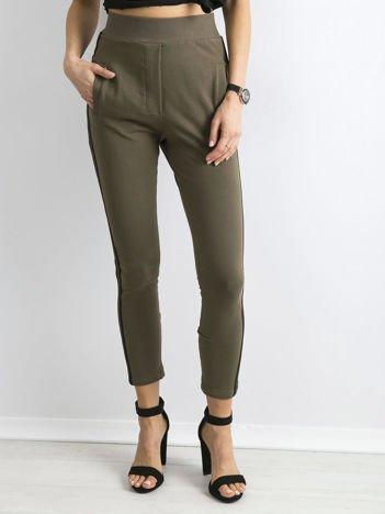 BY O LA LA Khaki spodnie dresowe