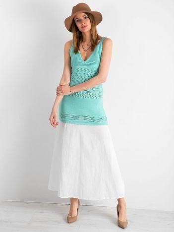 1c4214826b BY O LA LA Miętowa dzianinowa sukienka maxi
