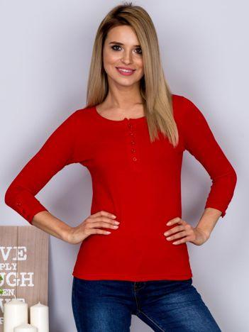 Bawełniana bluzka z guzikami czerwona