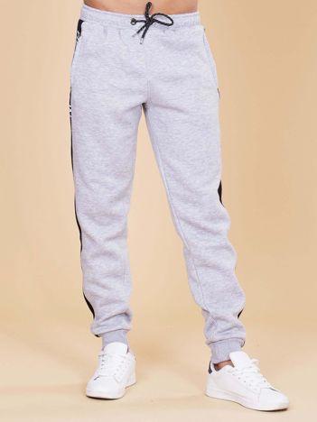 Bawełniane spodnie dresowe męskie szare