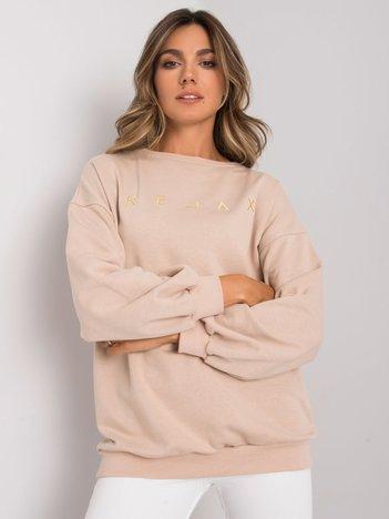 Beżowa bluza z napisem Adelynn
