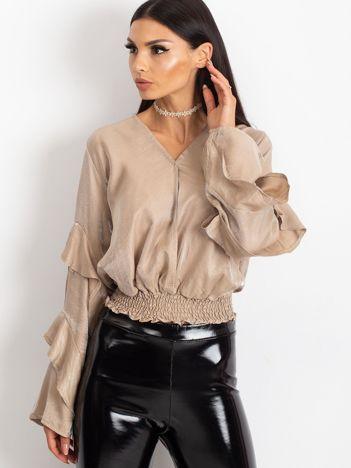 Beżowa bluzka Glam