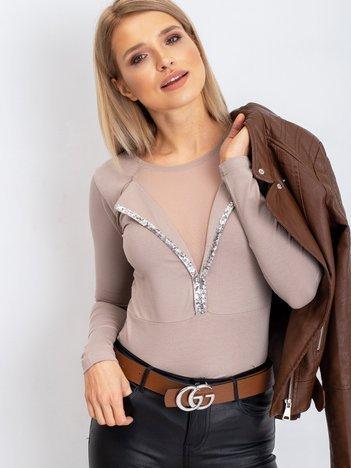 Beżowa bluzka Total