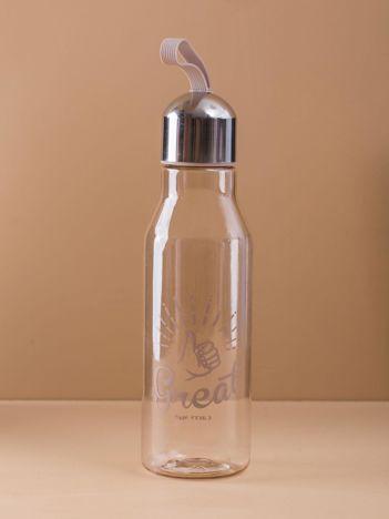Beżowa butelka plastikowa