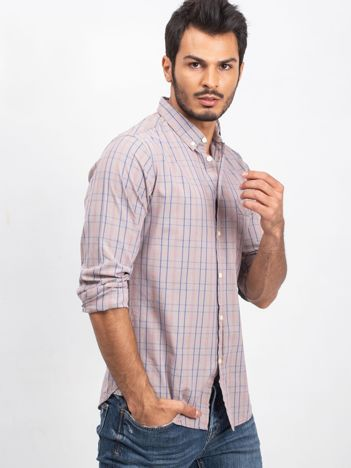 Beżowa koszula męska Casual