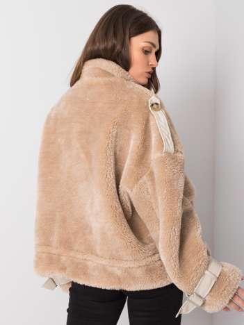 Beżowa kurtka futrzana Vibes