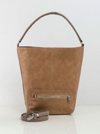 Beżowa miękka torba z ekoskóry