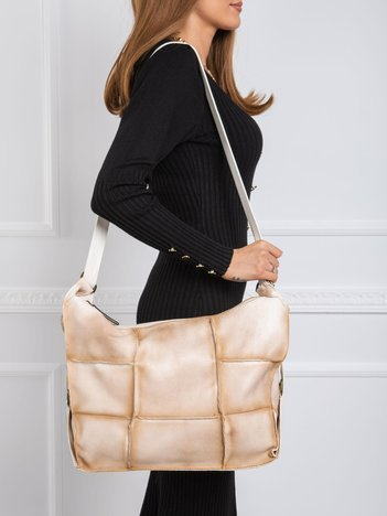 Beżowa podłużna torba