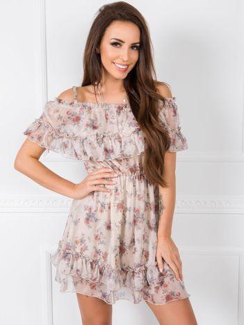 Beżowa sukienka Alexandra RUE PARIS