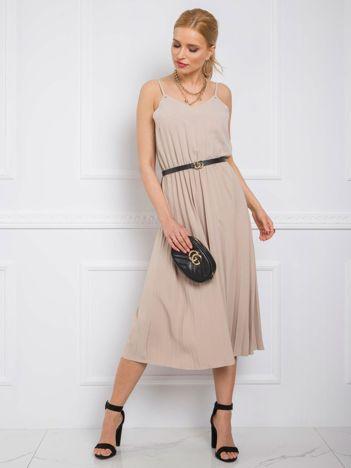 Beżowa sukienka Bridget RUE PARIS