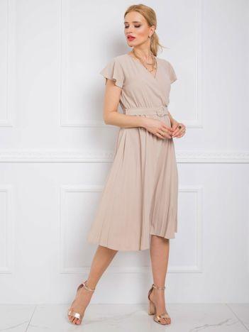 Beżowa sukienka Dalilah RUE PARIS