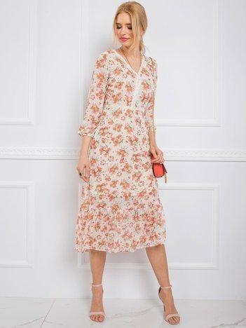Beżowa sukienka Donna RUE PARIS