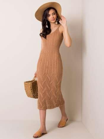 Beżowa sukienka Effie RUE PARIS