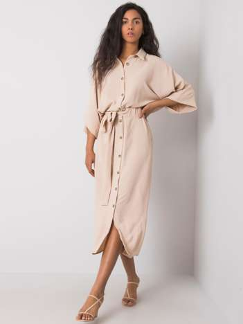 Beżowa sukienka Emerilda RUE PARIS