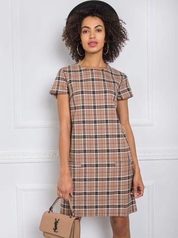 Beżowa sukienka Fiorine RUE PARIS