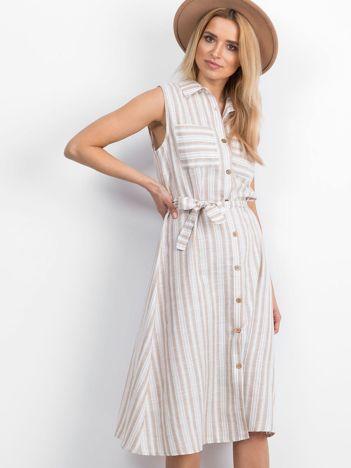 Beżowa sukienka Garment