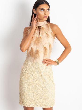 Beżowa sukienka Glam