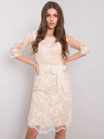 Beżowa sukienka Ivrea