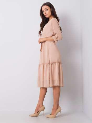 Beżowa sukienka Lamire RUE PARIS