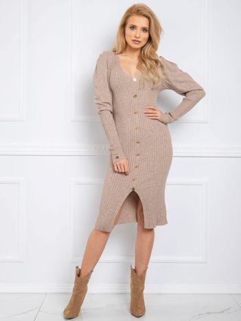 Beżowa sukienka Mabel