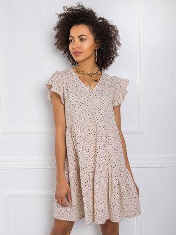 Beżowa sukienka Moe RUE PARIS