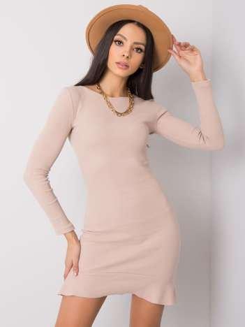Beżowa sukienka Robin RUE PARIS