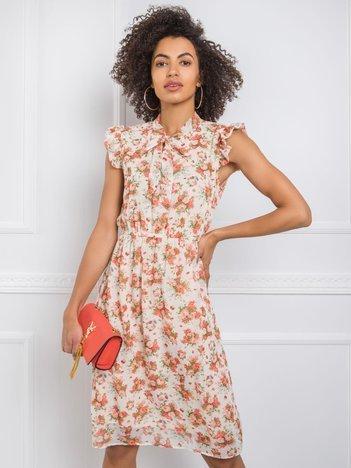 Beżowa sukienka Smile RUE PARIS