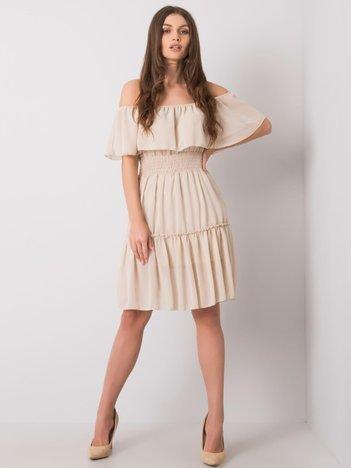 Beżowa sukienka hiszpanka Eria