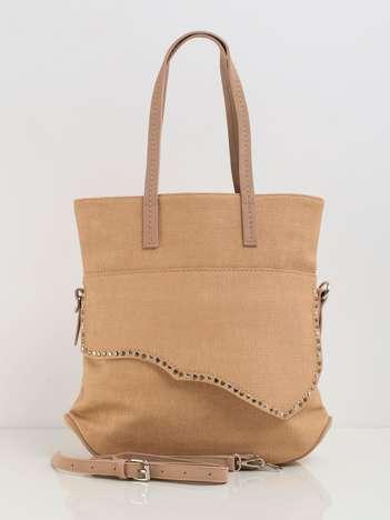 Beżowa torebka damska na ramię