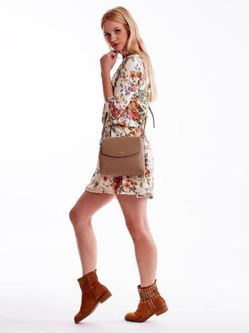Beżowa torebka damska z klapką