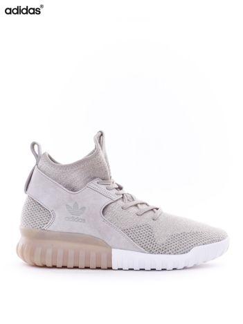 Beżowe buty męskie ADIDAS TUBULAR X PK 9 z zamszem