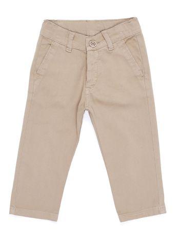 Beżowe materiałowe spodnie dla chłopca