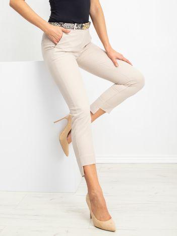 Beżowe spodnie Meghan