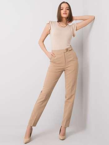 Beżowe spodnie Rochelle OCH BELLA