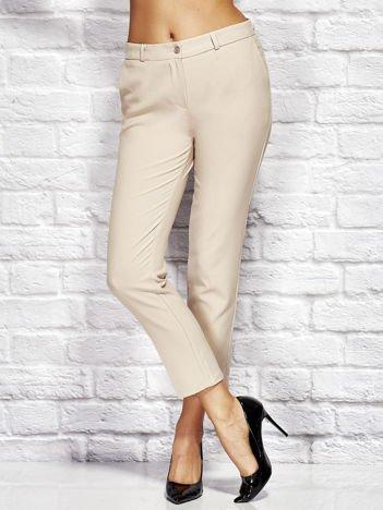 Beżowe spodnie cygaretki