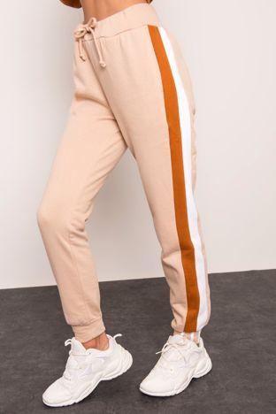 Beżowe spodnie z lampasem BSL