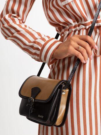 Beżowo-czarna damska torebka